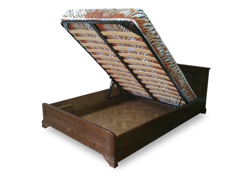 Купить кровать из массива с подъемным механизмом