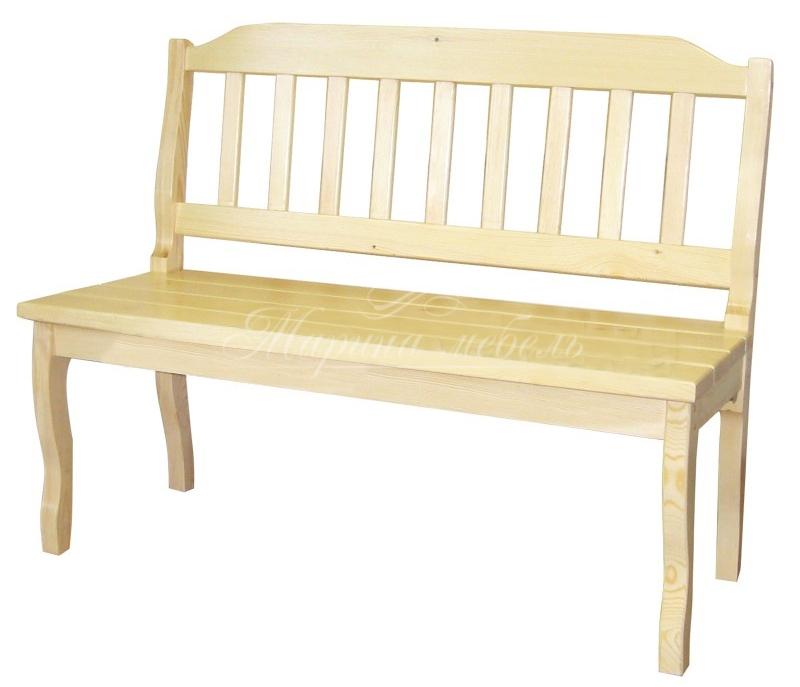 Лавка со спинкой - марина мебель - магазин недорогой мебели .